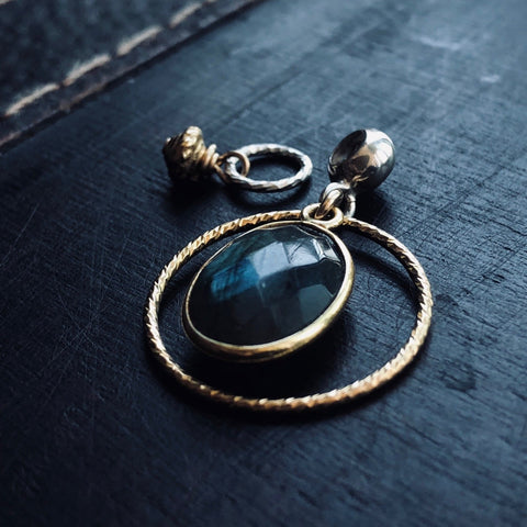 NEW - Gold Labradorite Charm Set ~ Tinori Collection
