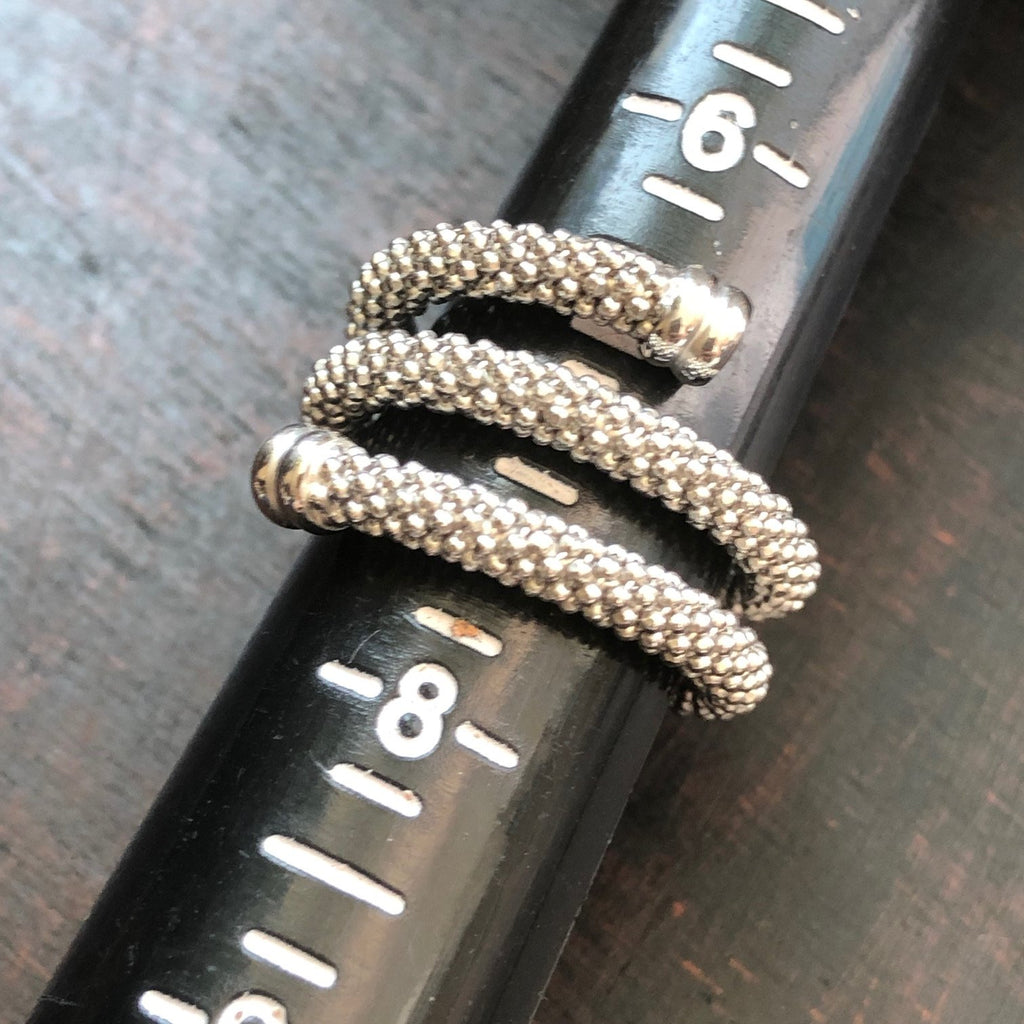 Cassie Silver Twist Ring