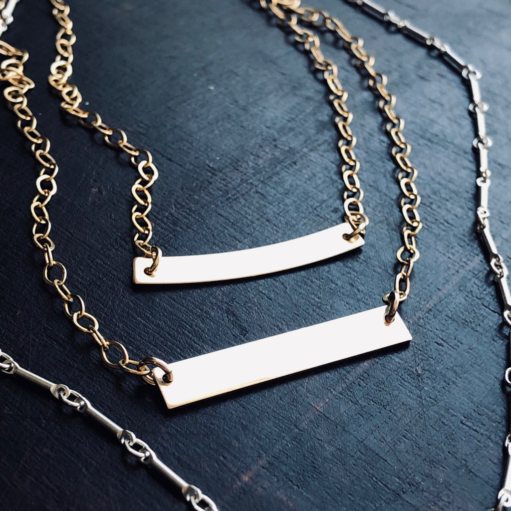 Gold Bar Necklaces