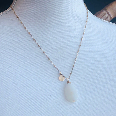 White African Opal Necklace
