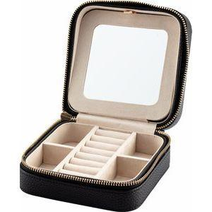 Leatherette Jewelry travel case with mirror