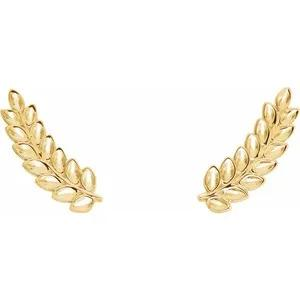 Lola Leaf Earrings - 14k Fine