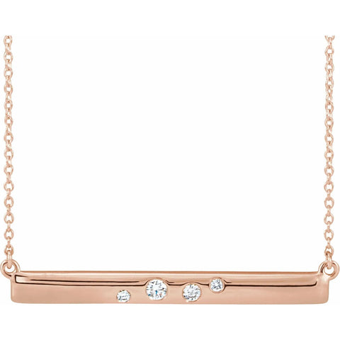 Stacy Diamond Necklace - 14k Fine