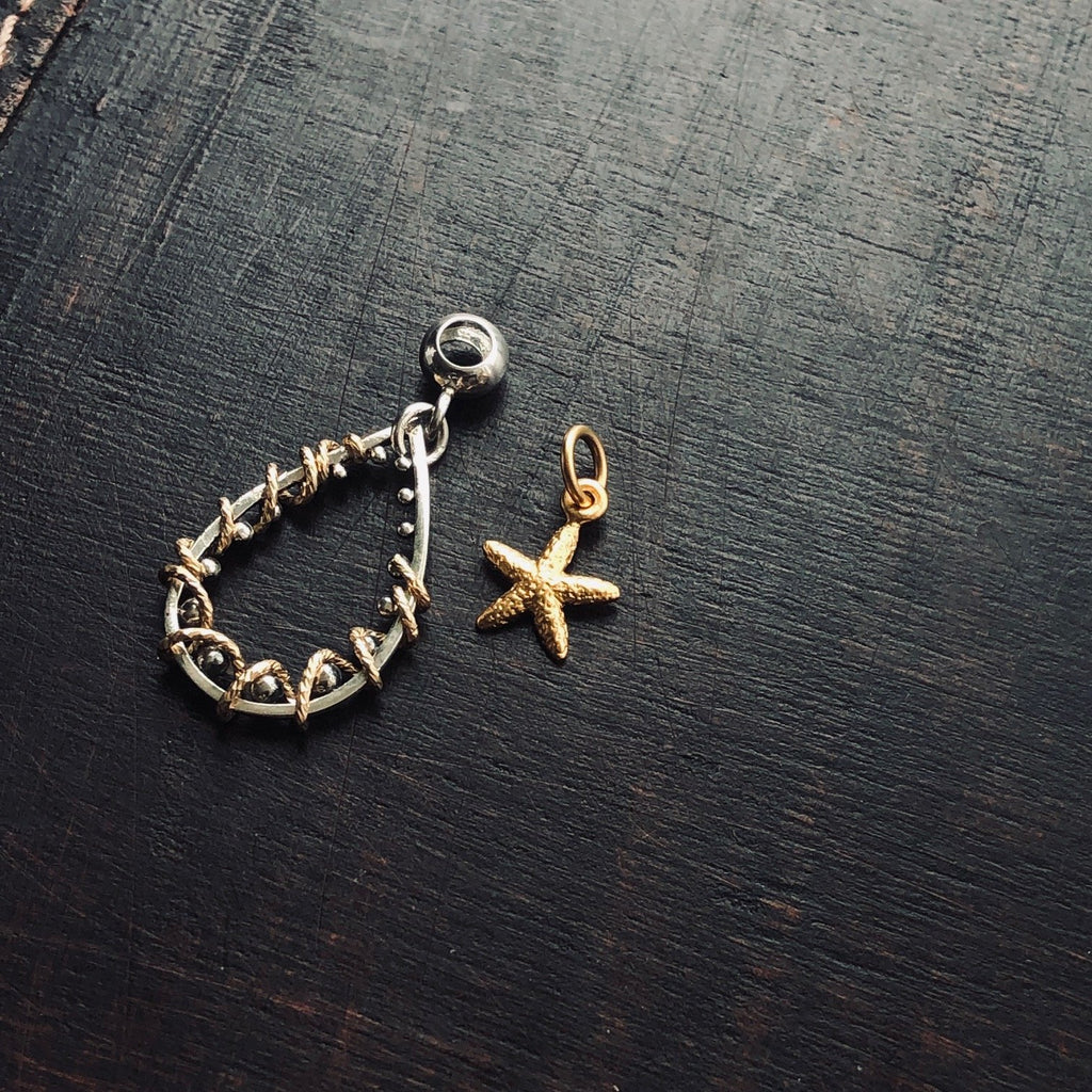Gold Starfish Charm Set ~ Tinori Collection