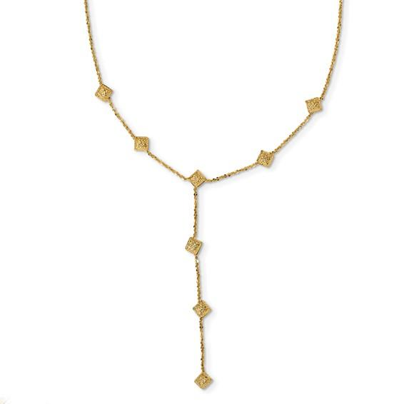 Kayla Y-drop Gold Necklace