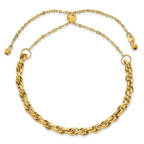 Liselle 14k Gold Adjustable Bracelet