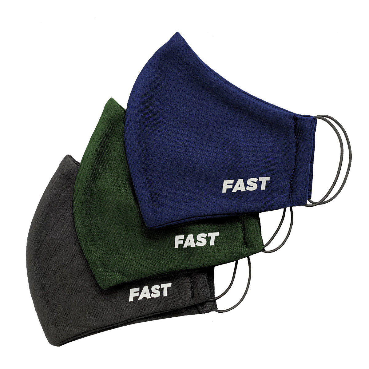 VNF Face Masks Pack (Blue/Green/Black)