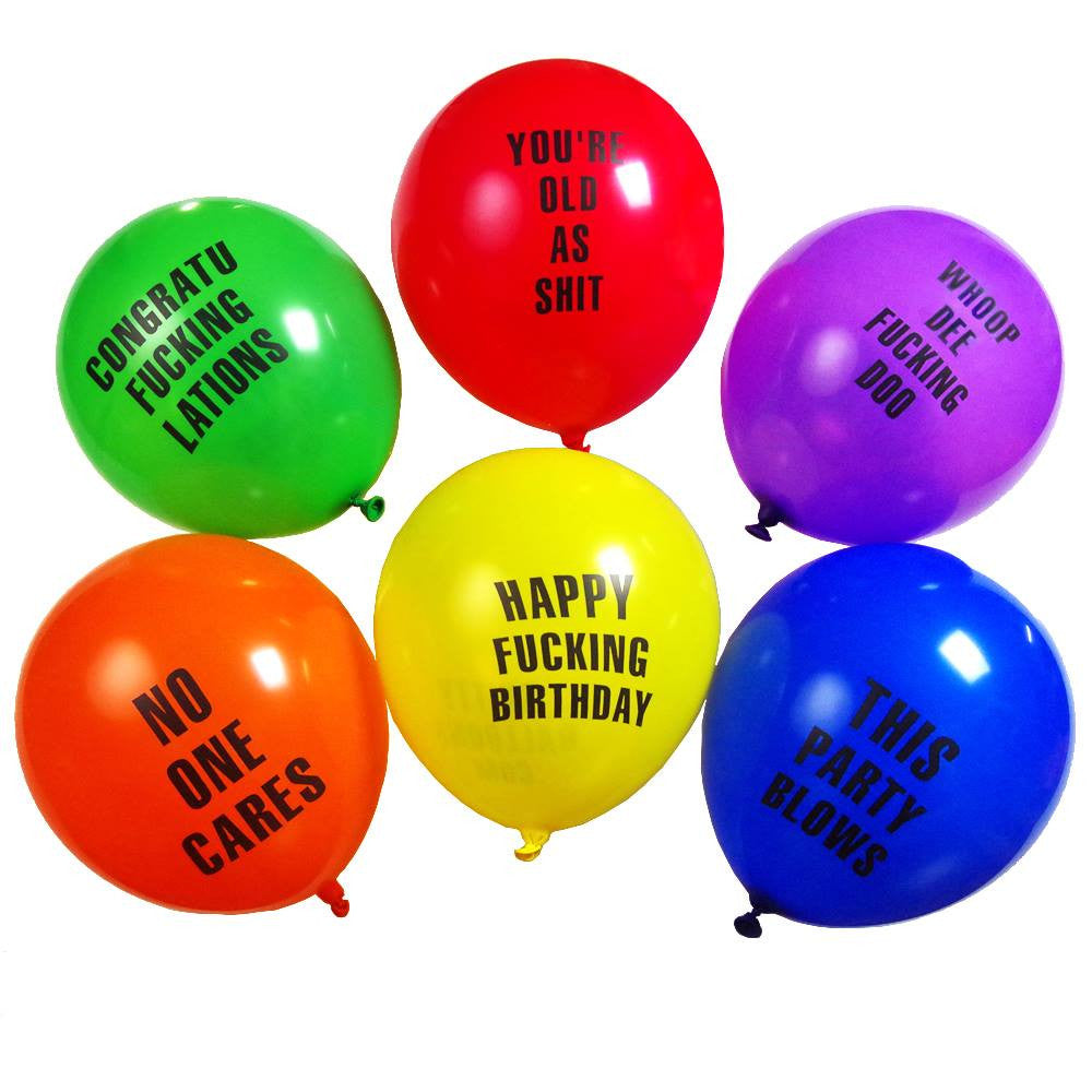 Abusive Balloons for birthday party shittyballoons