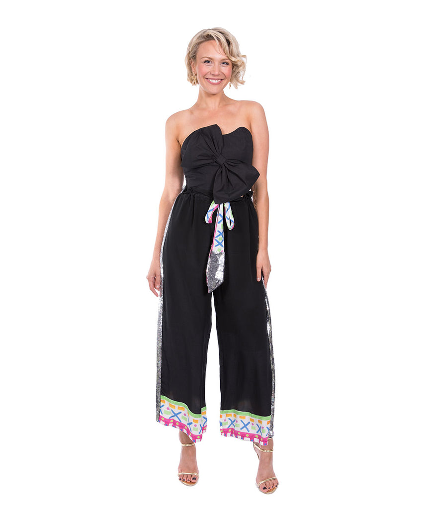 The Black Hani Drawstring Pant by Bonita Kaftans