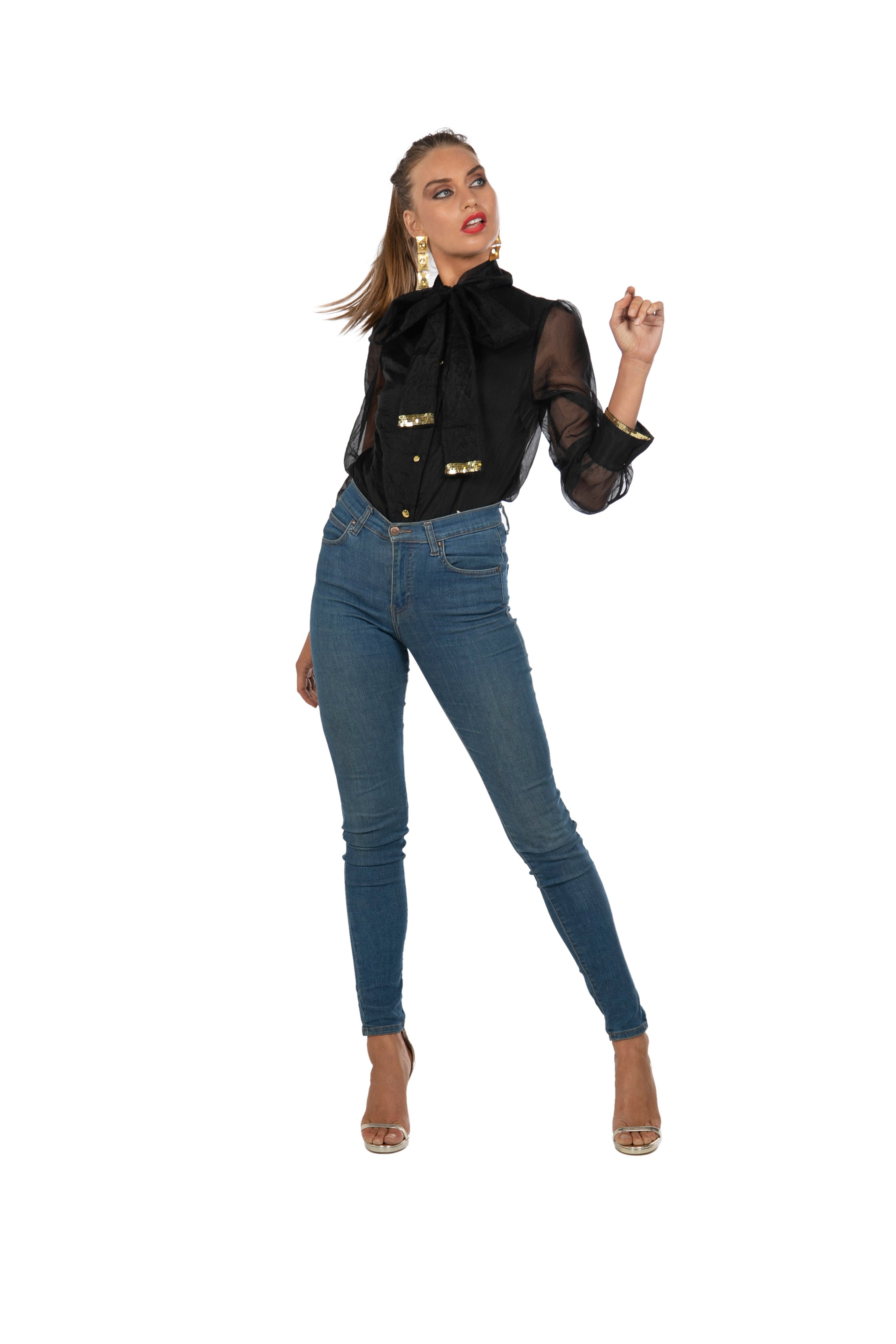 The Black Bow Blouse by Bonita Collective