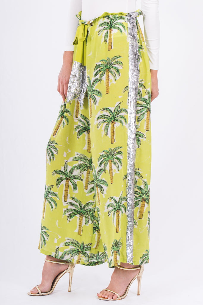 The Palm Tree Drawstring Pant