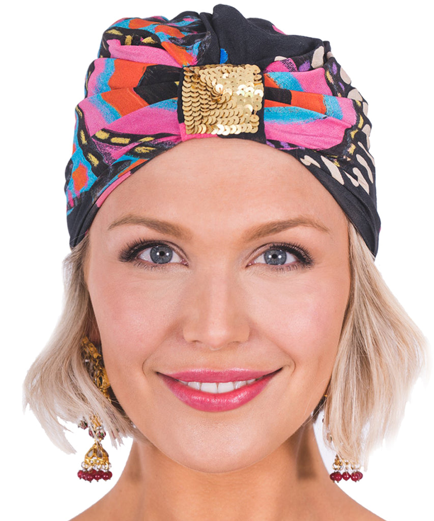 The Black Luna Turban