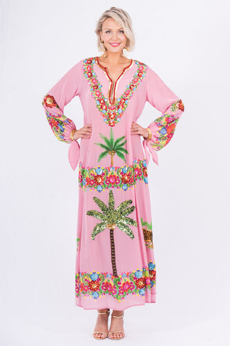 108. The Pink Palm Springs Kaftan