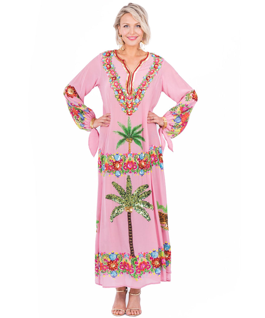 The Pink Palm Springs Kaftan