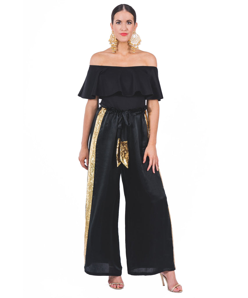 The Jet Black Drawstring Pant