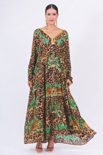 105. The Leopard Palm Springs Kaftan