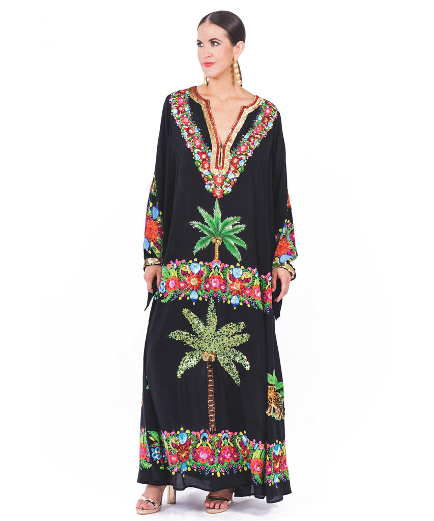 The Black Palm Springs Kaftan