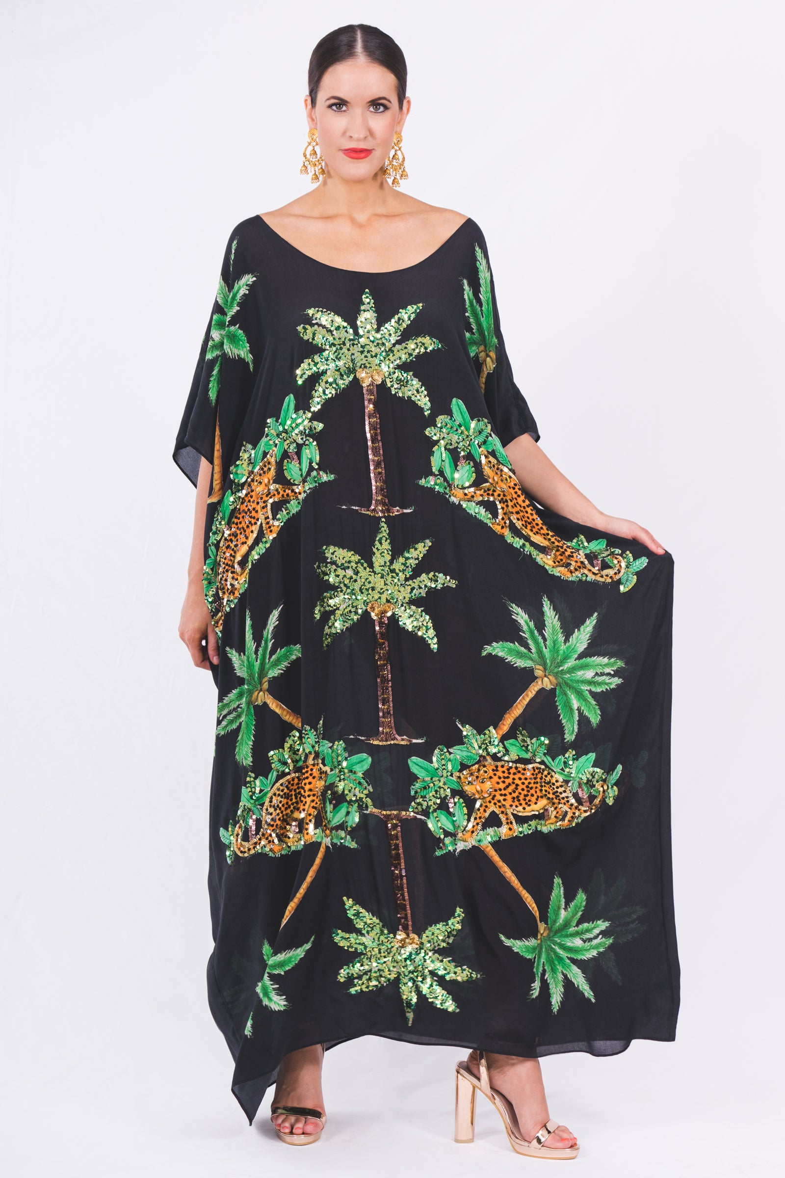 The Black Cheetah Kaftan by Bonita Collective