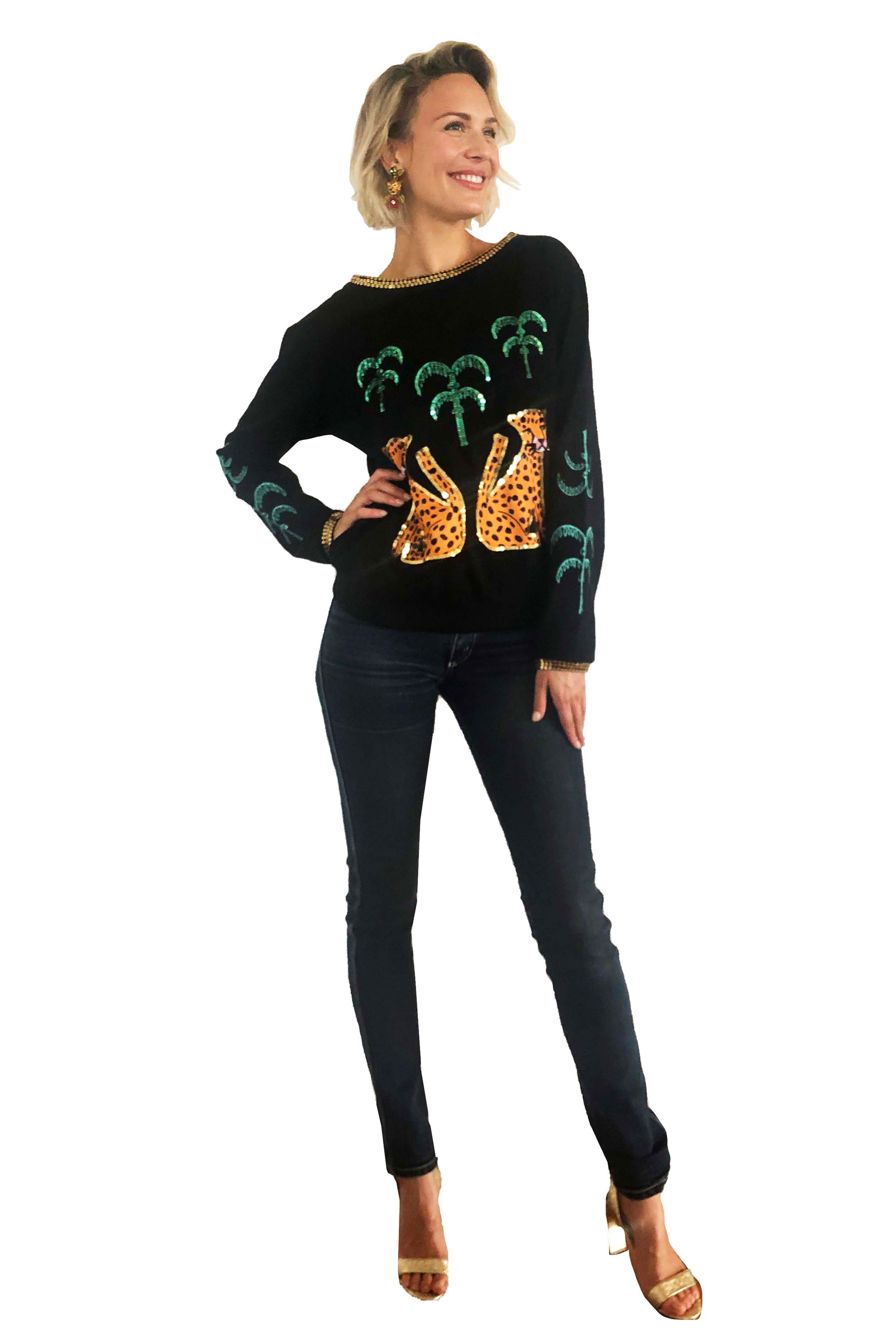 The Black Cheetah Jumper by Bonita Collective