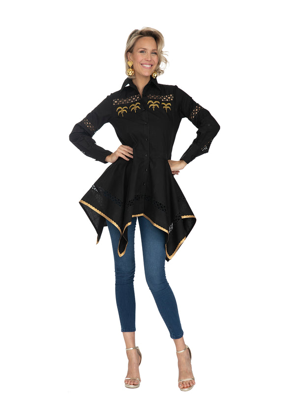 Black Palm Shirt by Bonita Collective