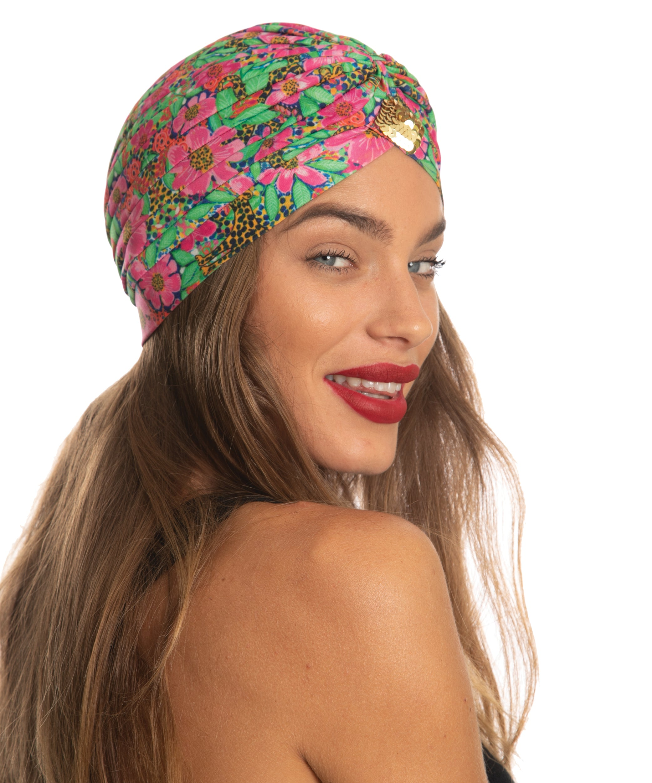 The Floral Cheetah Turban