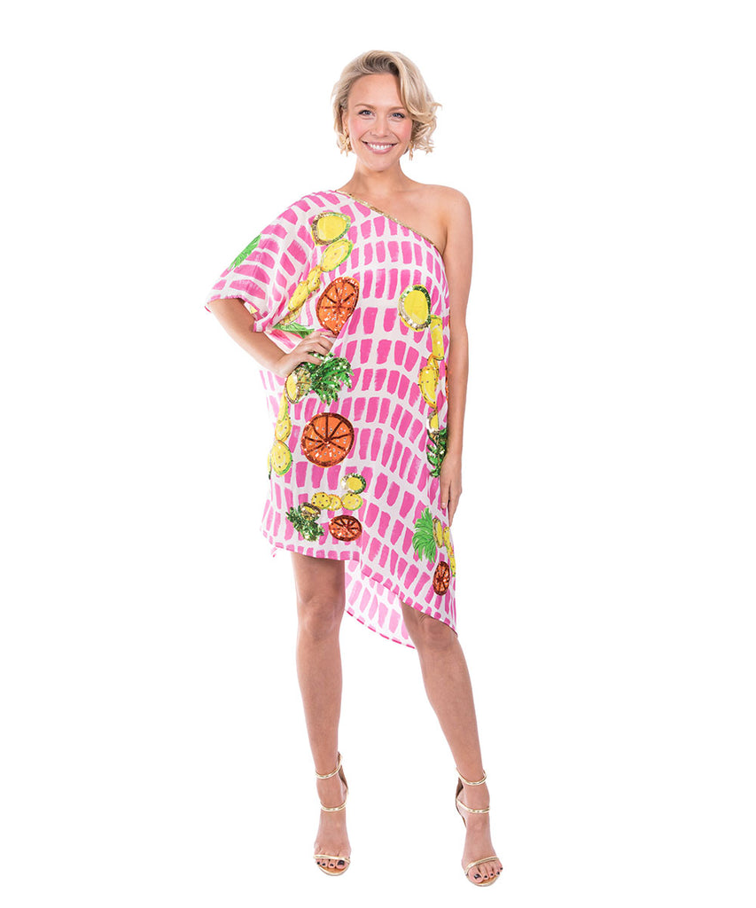 The Fruit Cart Kaftan (Short) by Bonita Kaftans