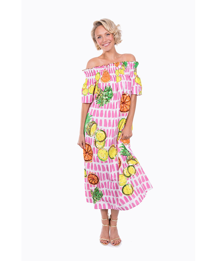 The Fruit Cart OTS Dress by Bonita Kaftans