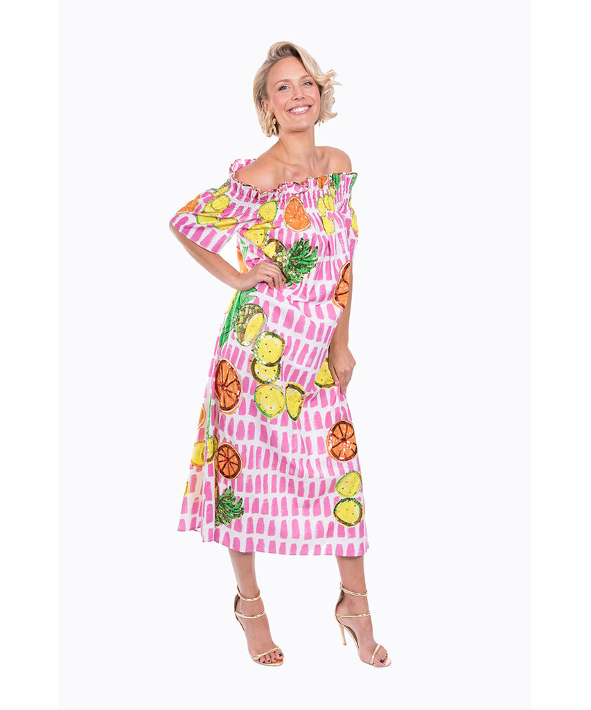 The Fruit Cart Off The Shoulder Dress