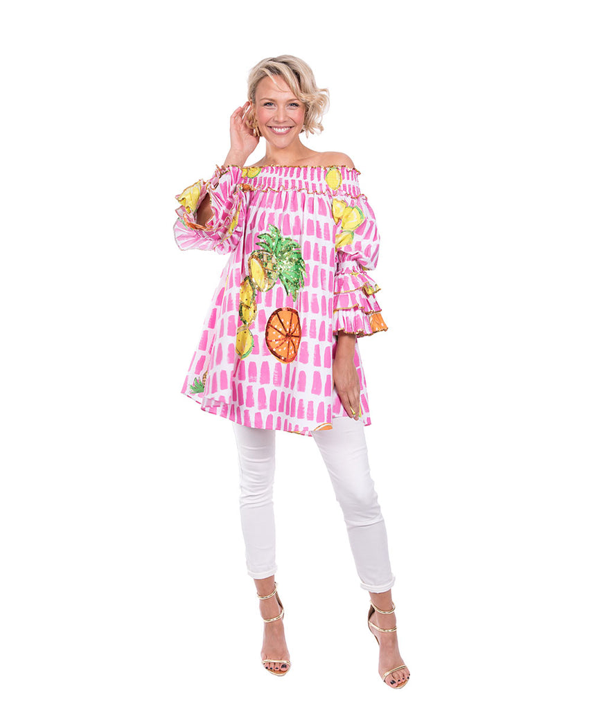 The Fruit Cart Ruffle Top