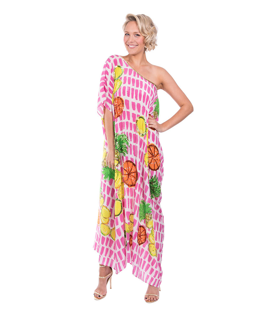 The Fruit Cart Kaftan (Long) by Bonita Kaftans