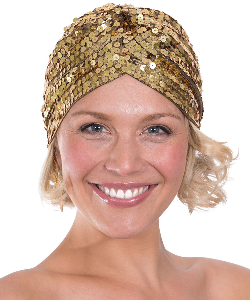 The Gold Sequin Turban