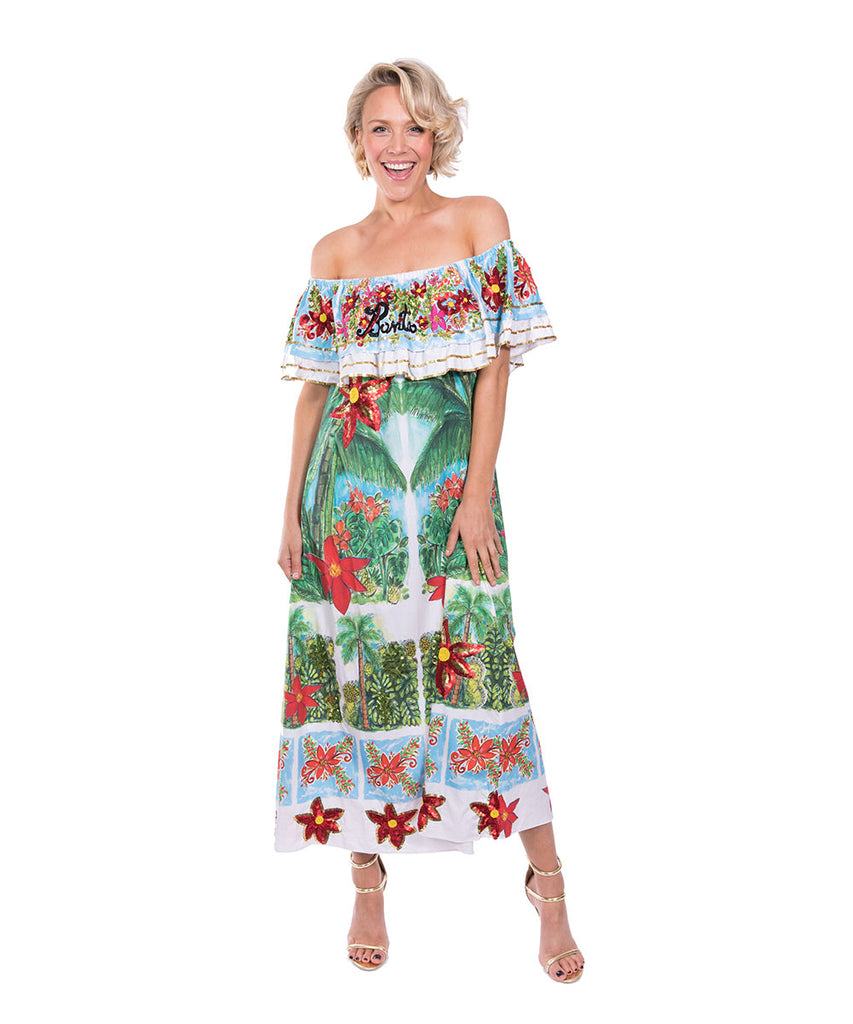 The Hawaiian Off The Shoulder Dress by Bonita Kaftans