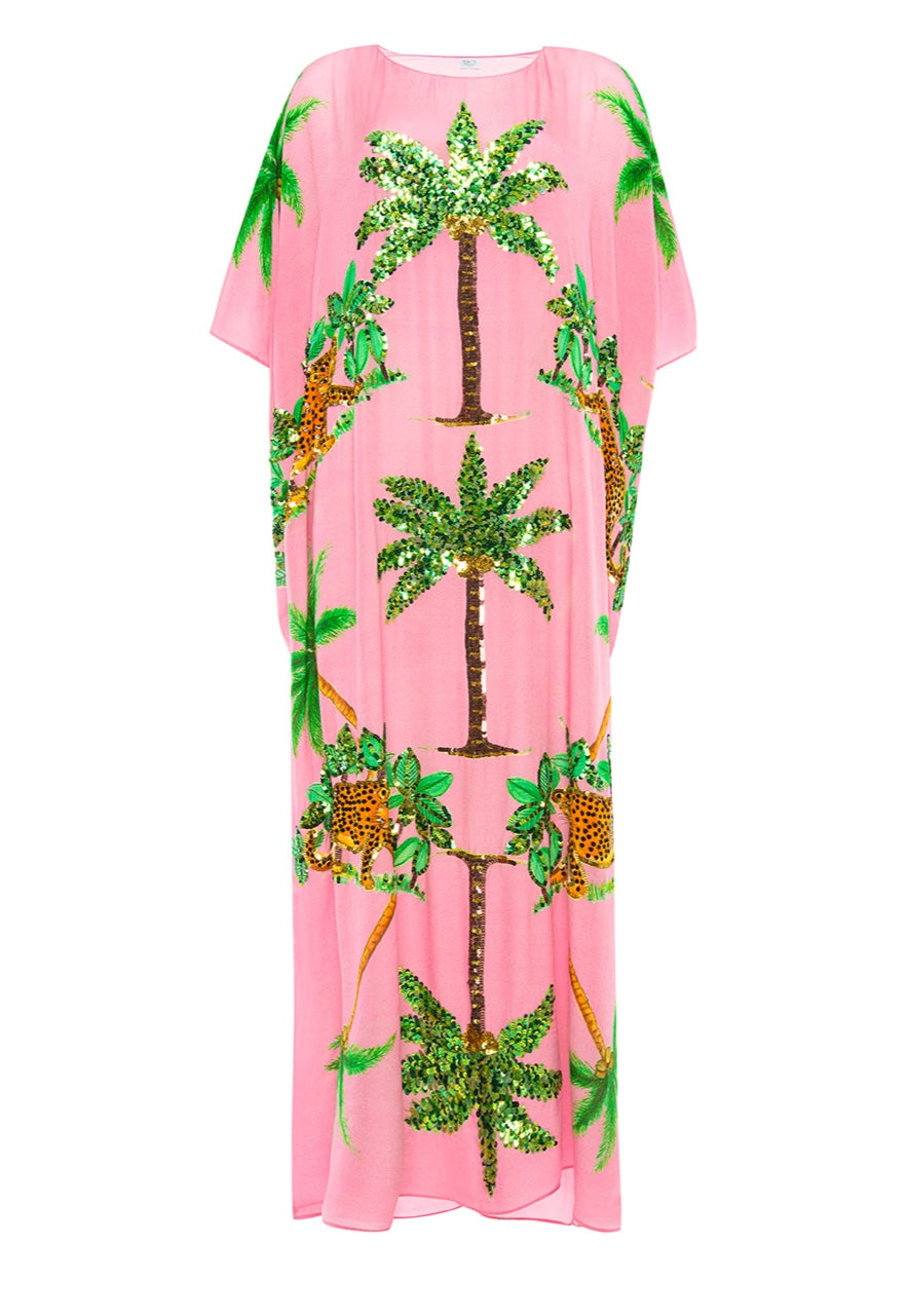 The Pink Cheetah Kaftan by Bonita Collective