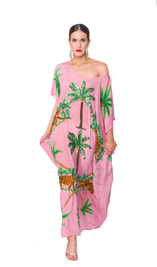 The Pink Cheetah Kaftan