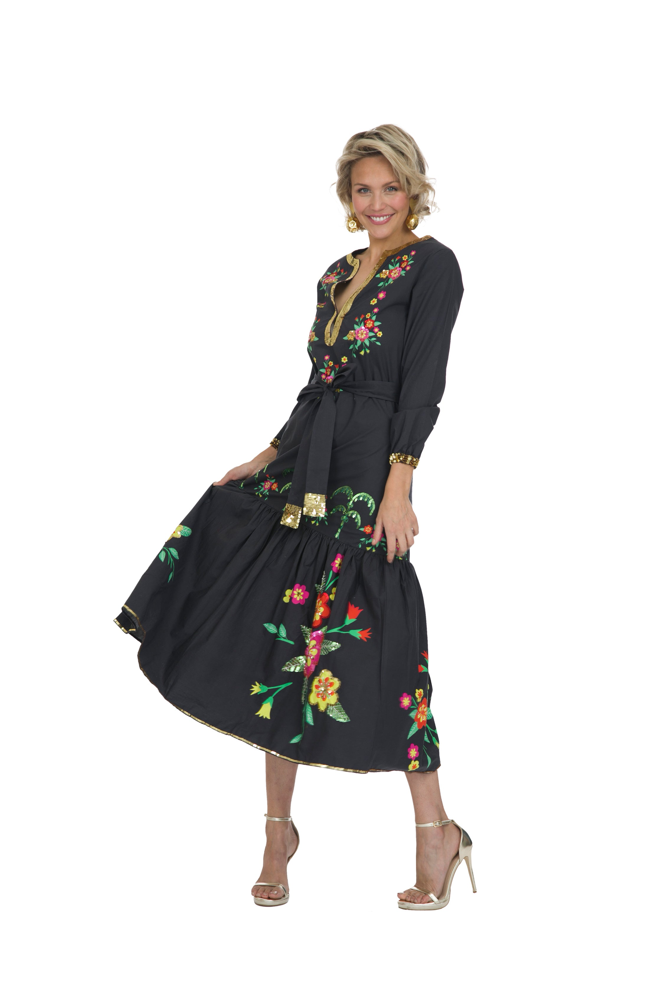 The Jungle Nights Long Sleeve Dress by Bonita Collective