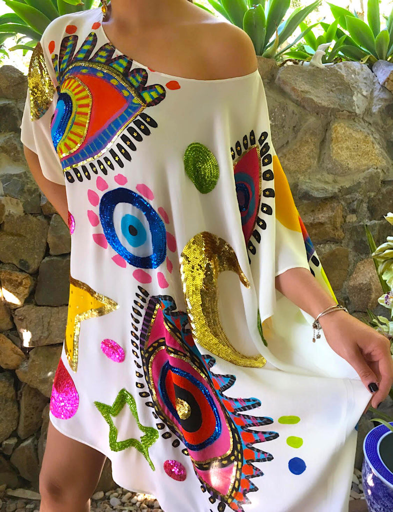 The White Luna Kaftan