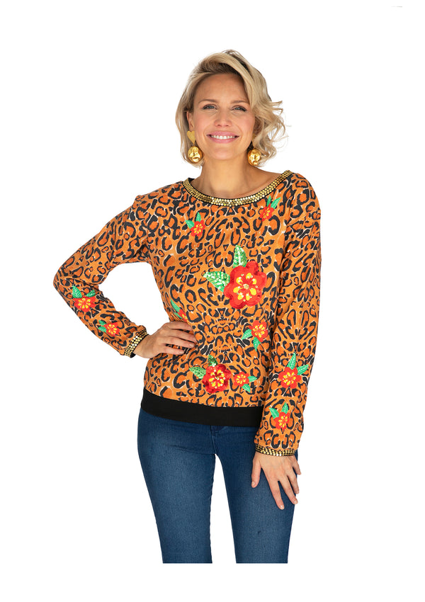 Leopard Blossom Jumper by Bonita Collective