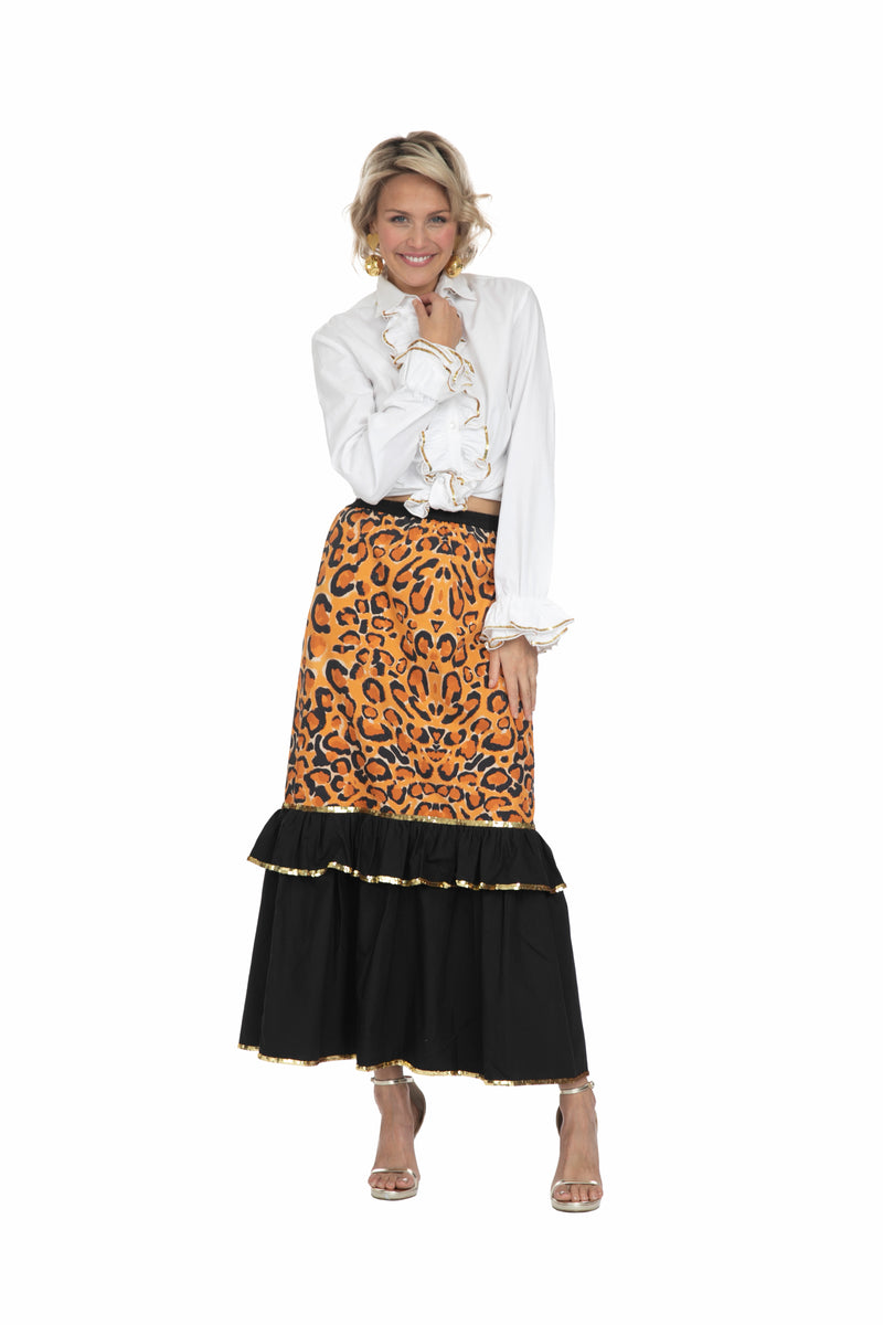 The Leopard Slimline Skirt by Bonita Collective