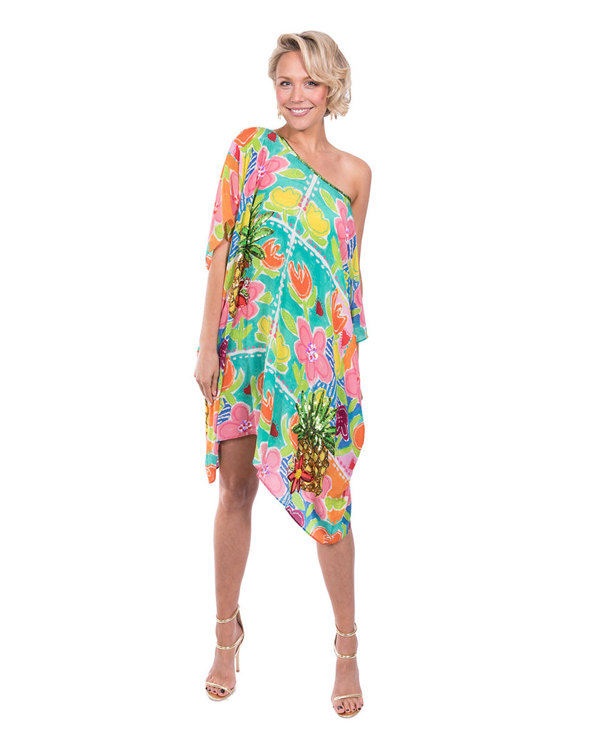 The Monet's Dream Kaftan (Short) by Bonita Kaftans