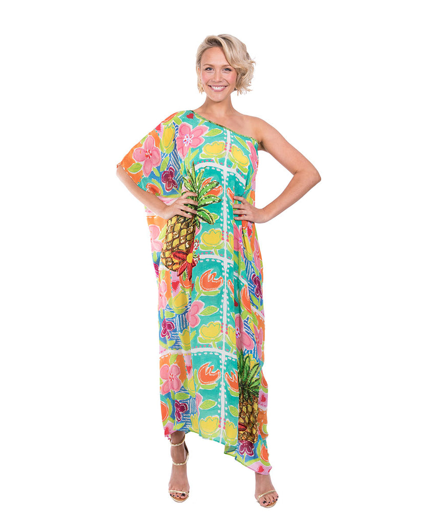The Monet's Dream Kaftan (Long) by Bonita Kaftans