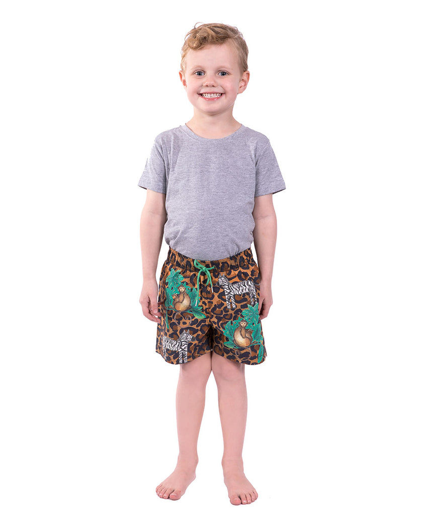 Boys Monkey Jungle Boardshort by Bonita Bambino
