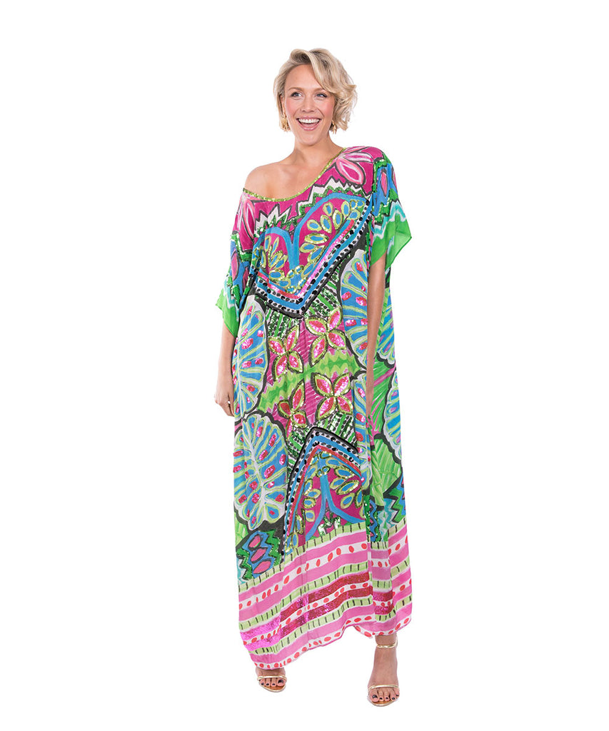 The Night Orchard Kaftan (Long) by Bonita Kaftans