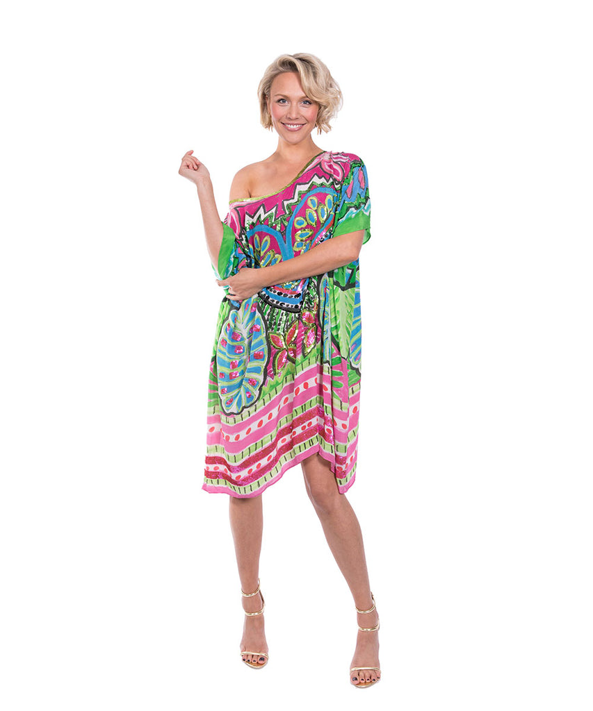 The Night Orchard Kaftan (Short) by Bonita Kaftans