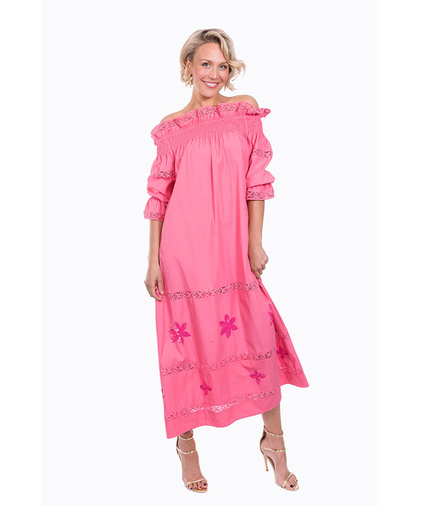 The Peach Summers Night Dress by Bonita Kaftans