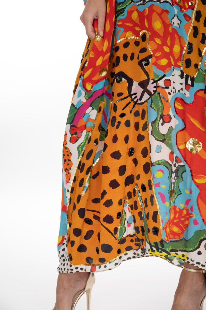 Portrait Of A Jungle Kaftan by Bonita Collective
