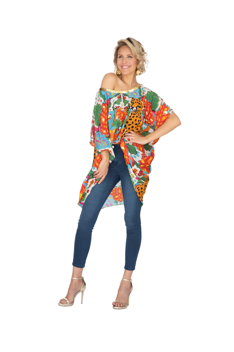 Portrait Of A Jungle Kaftan - Short