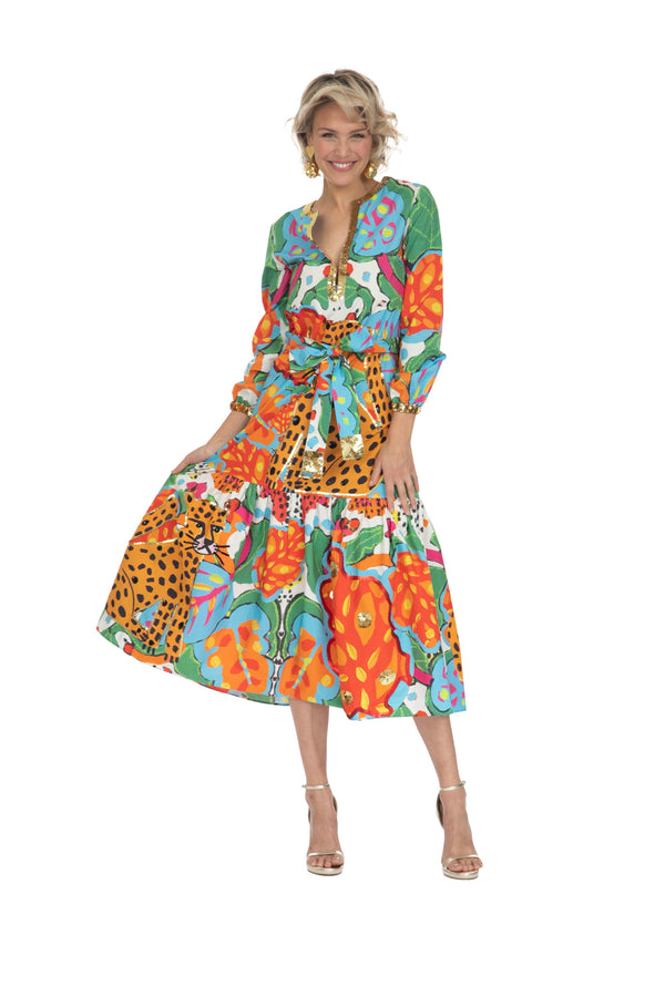 Portrait Of A Jungle Long Sleeved Dress by Bonita Collective