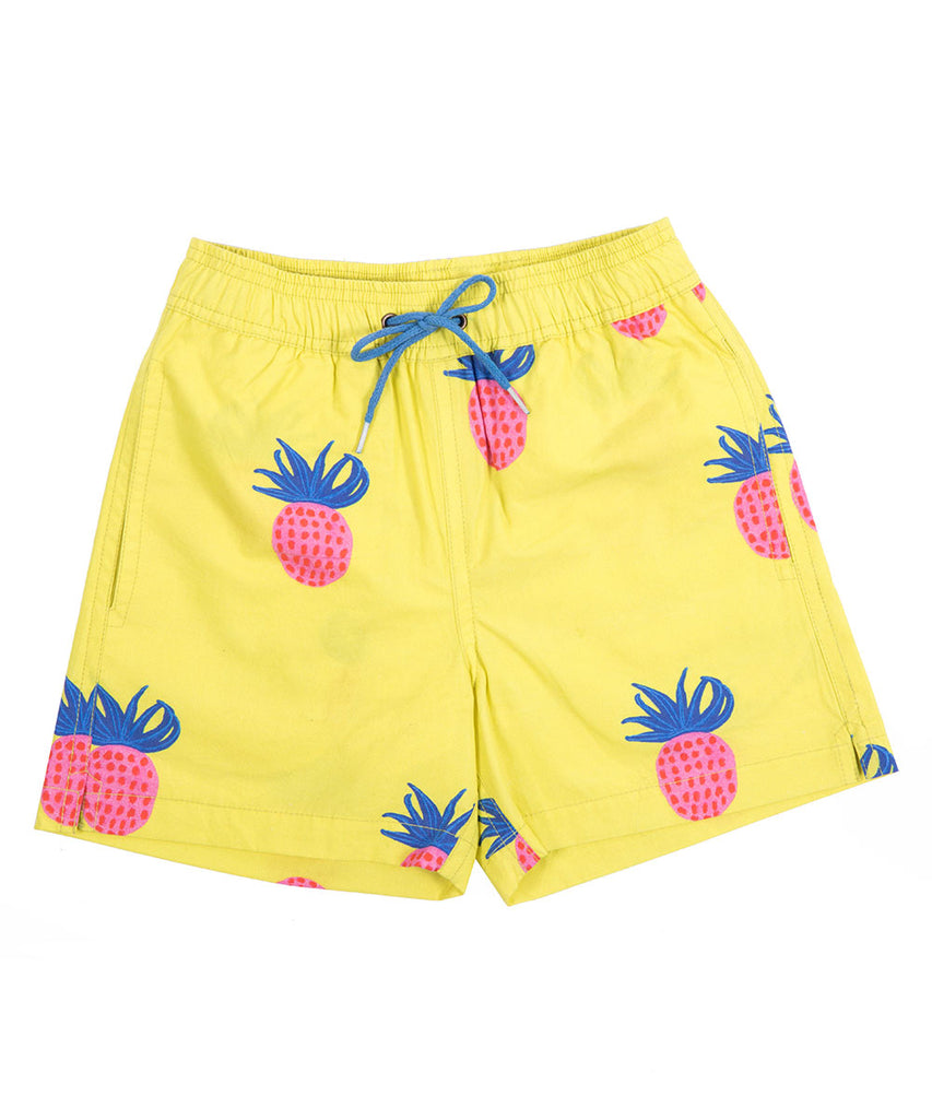 Boys Pineapple Magic Boardshorts by Bonita Bambino
