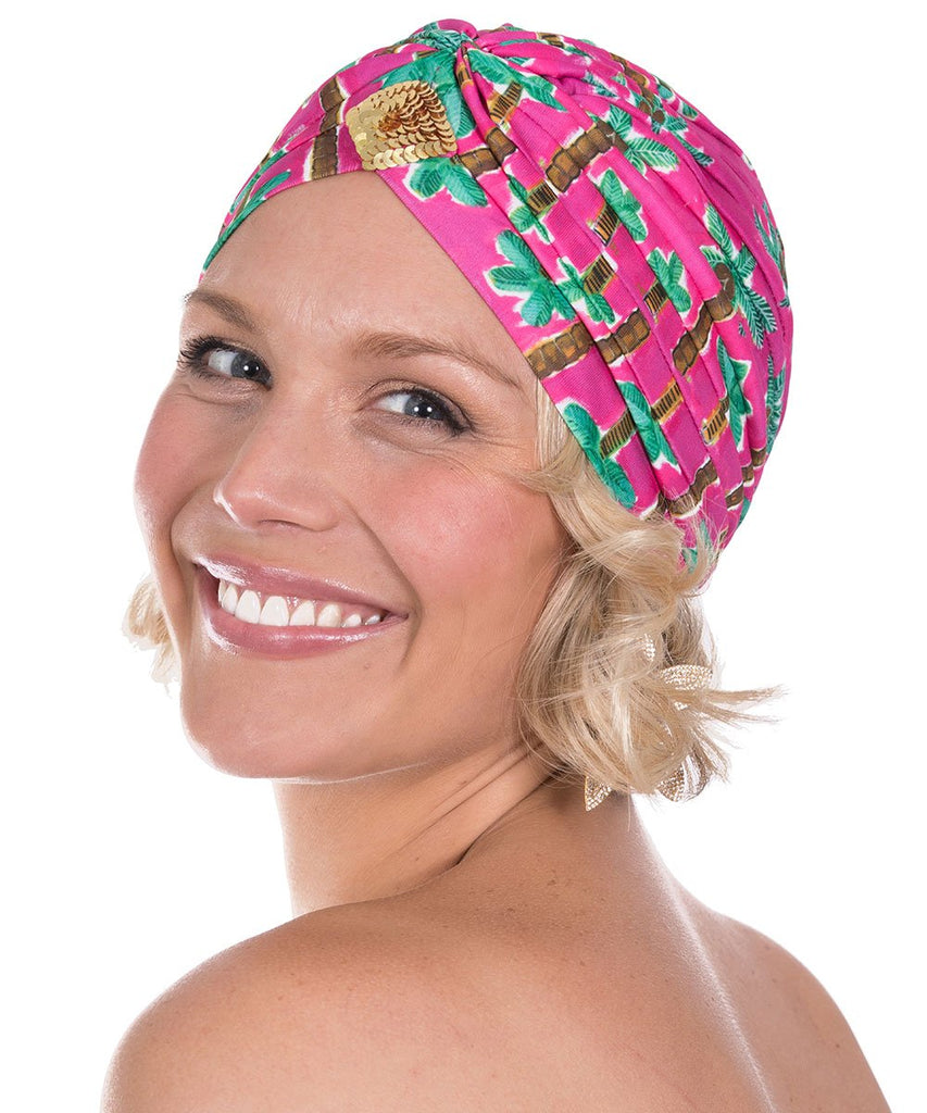 The Pink Palm Turban by Bonita Kaftans