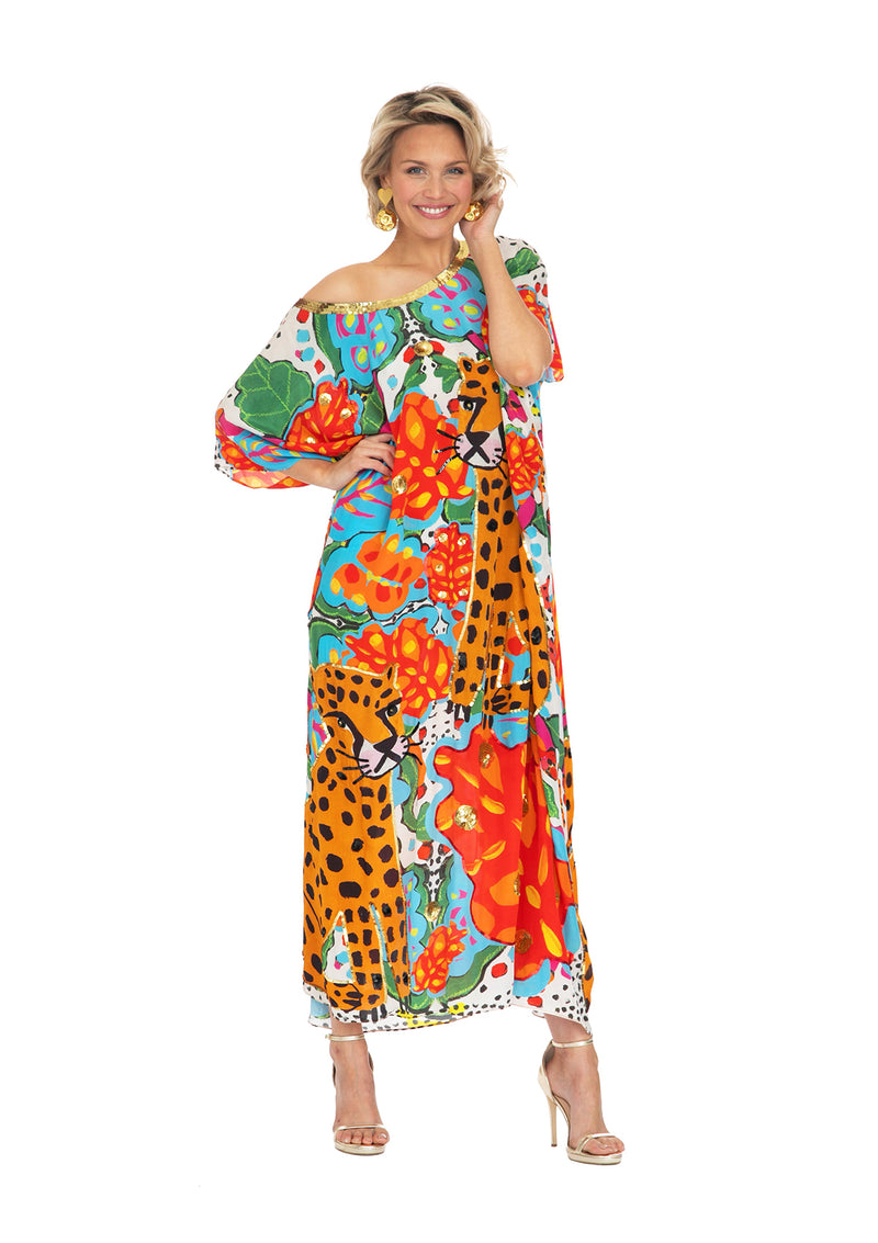 Portrait of a Jungle Kaftan Long by Bonita Collective
